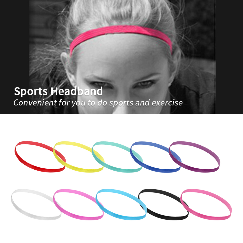 LOOZYKIT Sports Headband Yoga-Hair-Bands Gym Fitness Elastic Anti-Slip Thin Slim