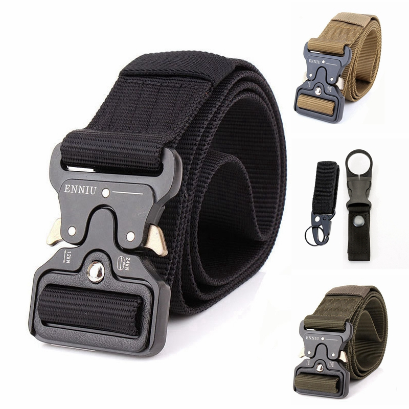 Outdoor Tactical Army   Belt   Men Jeans Nylon   Belt   High Quality Military Metal Buckle   Belt   Accessories Easy To Wear Black   Belt