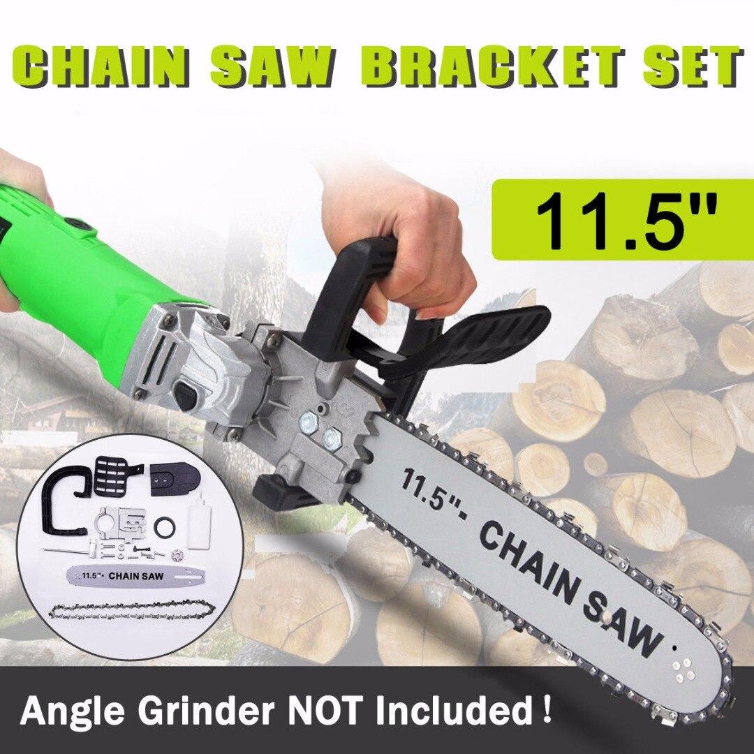 купить 11.5 inch Chain Saw Bracket Set Electric Angle Grinder Motor Chain Saw Bracket Set for Woodworking Garden Power Tool по цене 1948.81 рублей
