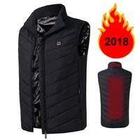 2018 New Hot New Pattern Heating Waistcoat Customized Security Lntelligent Fever Cotton Photographic Clothing Men's Vest Winter