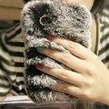 For Samsung Galaxy S7 Edge Case Rabbit Fur Rhinestones Bling Soft TPU Case For Samsung Galaxy J5 2016 A5 S7 S6 S5 S4 Phone Cases