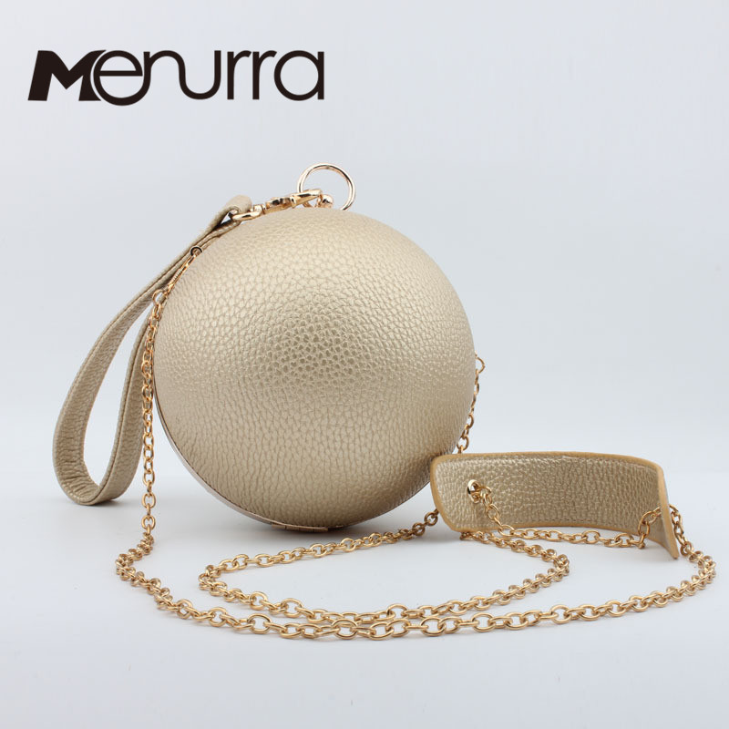 Round pearl women bag purse chain ball party clutches