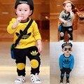 2016 Niños Ropa de Los Muchachos fijados Juegos de los Deportes Chicos de manga larga kid infant toddler ropa fijada Verano rupo bebe niños ropa