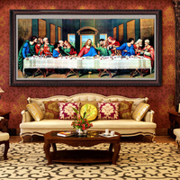 5D Full Diamond Embroidery Catholicism The Last Supper Diamond Painting Christian Jesus Living Room Paintings
