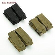 Тактический двойной пистолет маг подсумок закрыть кобура 600D 9 мм Molle открытый боевой Военная охота сумки нейлон дешево