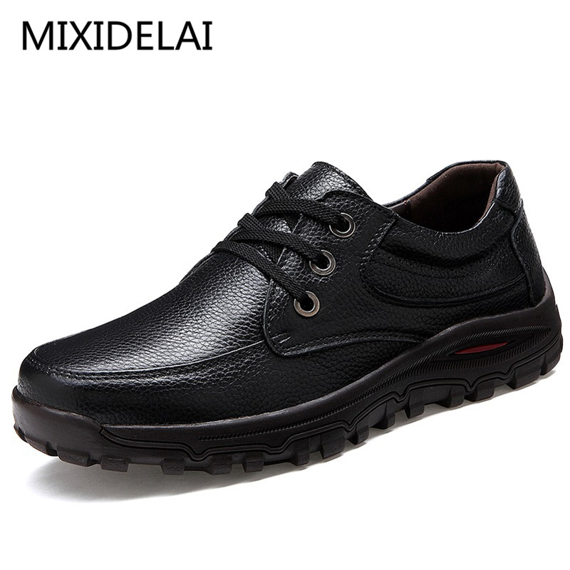Big Size 48 Genuine Leather Men Shoes Luxury Brand Casual Men Flats Shoes Black Formal Chaussure Homme Sapato Masculino 2018 genuine leather men s vulcanized shoes black white mans footwear flats sneakers casual shoes sapato masculino