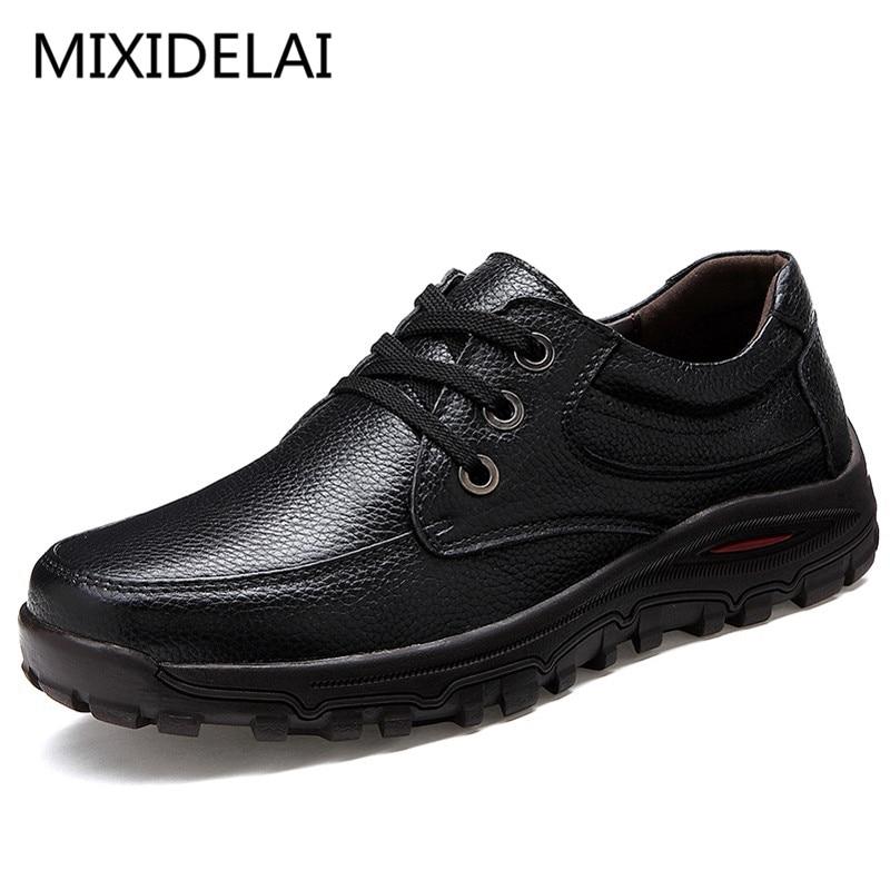 Мужские туфли из натуральной кожи, роскошные Брендовые повседневные туфли на плоской подошве, черные деловые туфли, большой размер 48