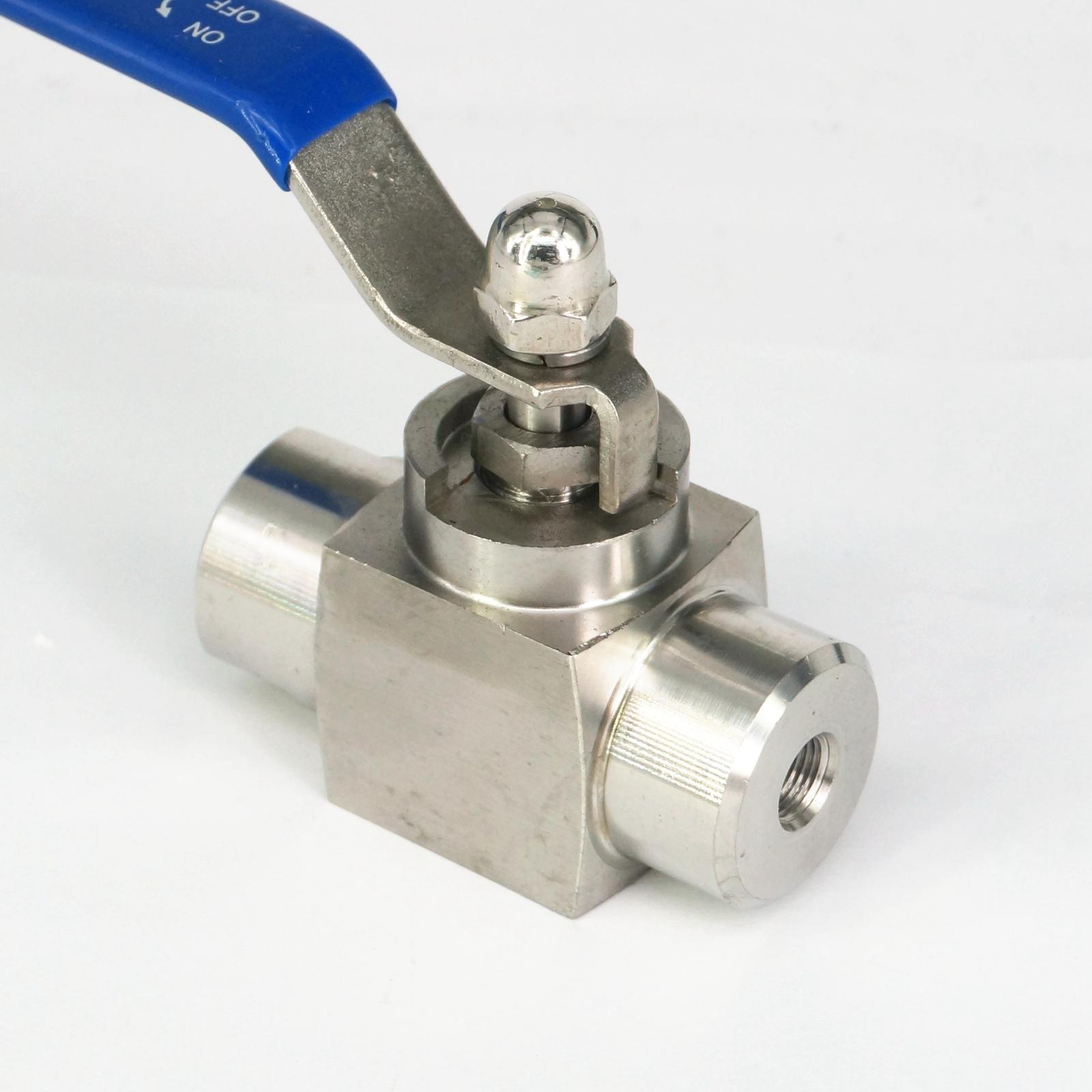 1/8 BSP Female 304 Stainless Steel Shut Off Ball Valve water gas oil High Pressure 4576 PSI 1 4 bsp male to female thread 2 way 304 stainless steel dn8 2 pieces ball valve for water gas oil control