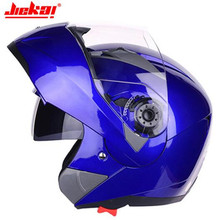 JIEKAI Motorcycle Helmet Motocross Chopper Capacetes De Motociclista Flip Up Casco Moto Racing Motorbike