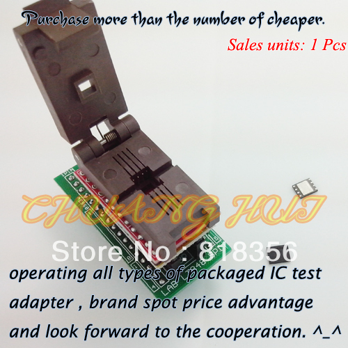 for LABTOOL848 Programmer Adapter LAB-848/LT-848 SPI FLASH Adapter QFN8-DIP/WSON8/DFN8 Size 5x6 IC Test Socket/IC Socket usb tl866cs programmer eprom spi flash avr gal pic 9pcs adapters test clip 25 spi flash support in circuit programming adapter