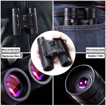 USCAMEL 10x25 Compact Binoculars Folding HD FMC Optics 2
