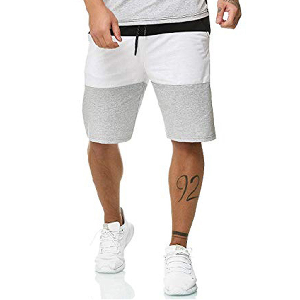 Fashsiualy Bermuda Masculina 2019 Men's Splicing New Style  Cotton Multi-Pocket Overalls Shorts Fashion Pant Short Homme
