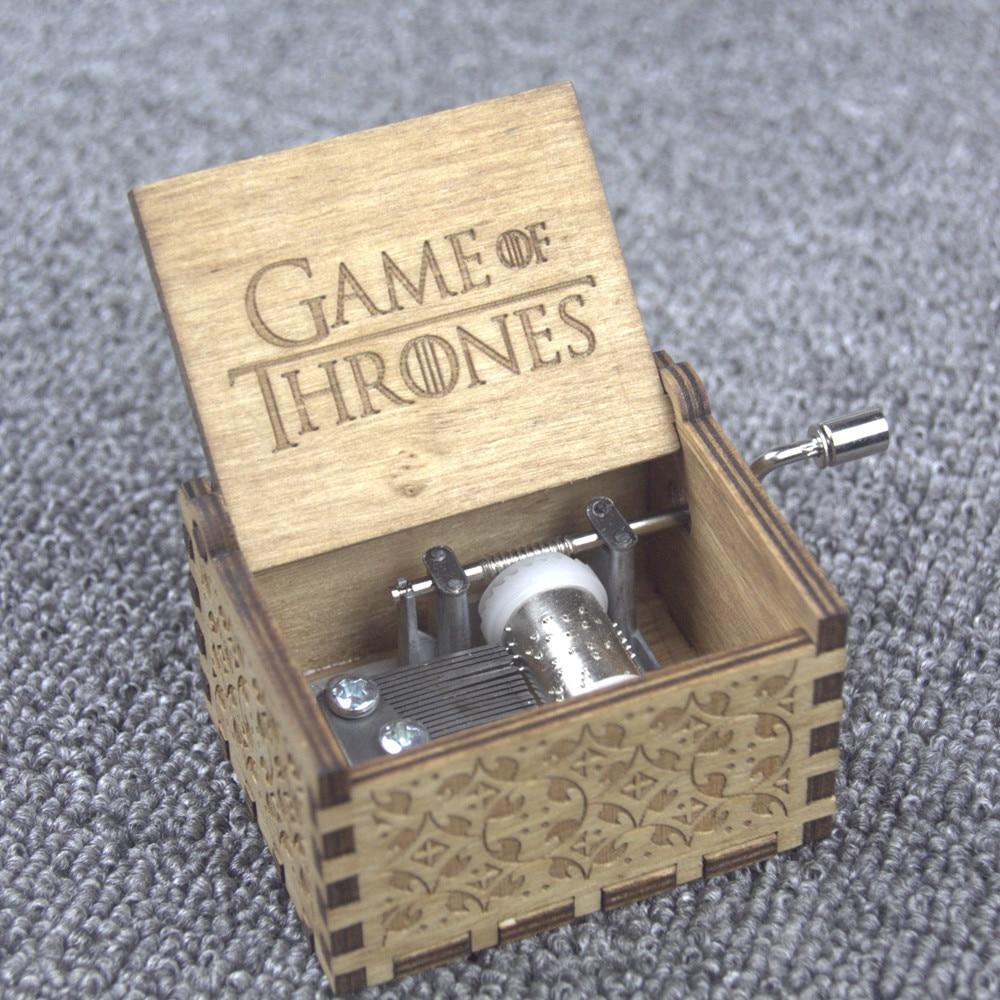 Regali di natale Game of Thrones Star Wars Harry Potter Tema di Buon Natale Handmade Inciso In Legno Music Box Artigianato Cosplay