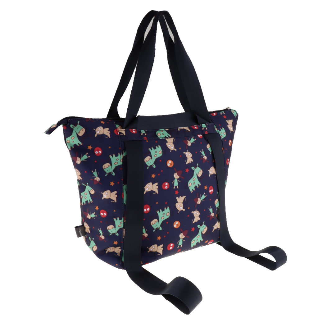 Large Diaper Tote Stylish for Mom and Dad Convertible Travel Baby Bag dad mom& me:创意美工(5 6岁)