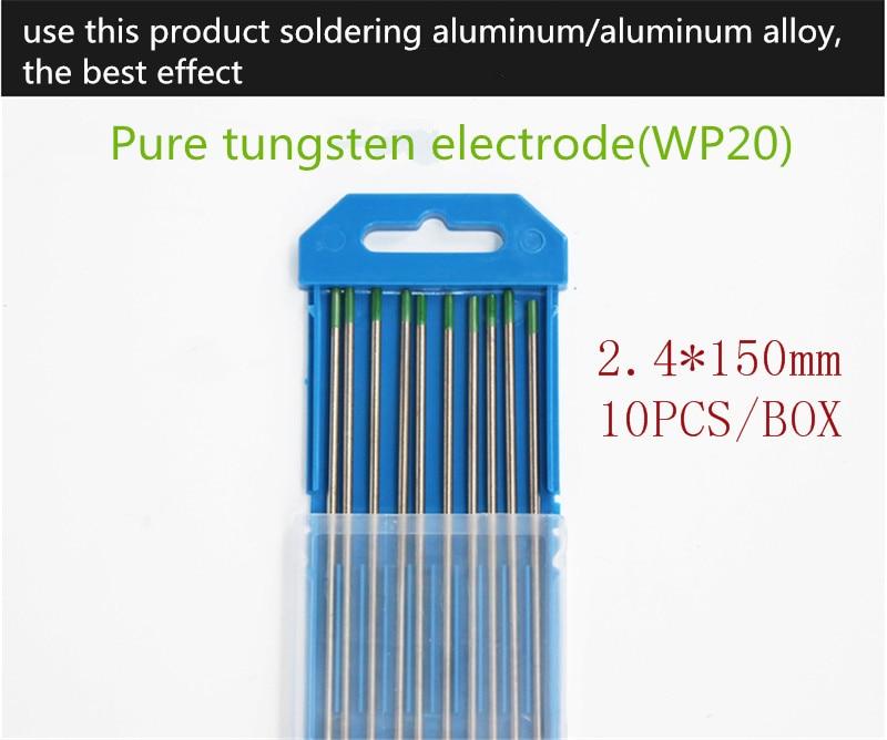 YT1471  10PCS/BOX Pure Tungsten Electrode   Diameter 2.4mm Length 150mm  Soldering Aluminum/Aluminum Alloy Free Shipping  WP20 the rhetoric of the contemporary lyric