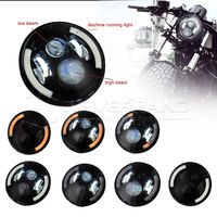 Neverland 7 Motor Projector Daymaker LED Angel Halo Eye Motorcycle Headlight Bulb For Harley D35