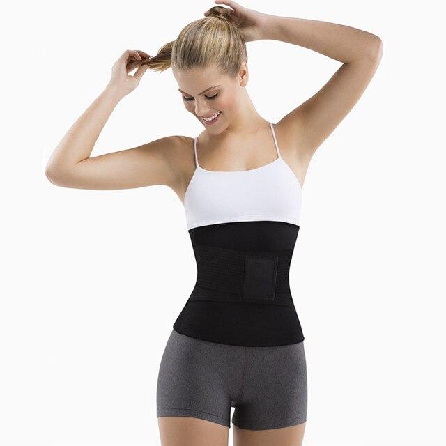 New Plus Size Neoprene Sweat Sauna belt Body Shapers Belt Waist Trainer Slimming Belts Shapewear Weight Loss Waist Shaper Corset 3