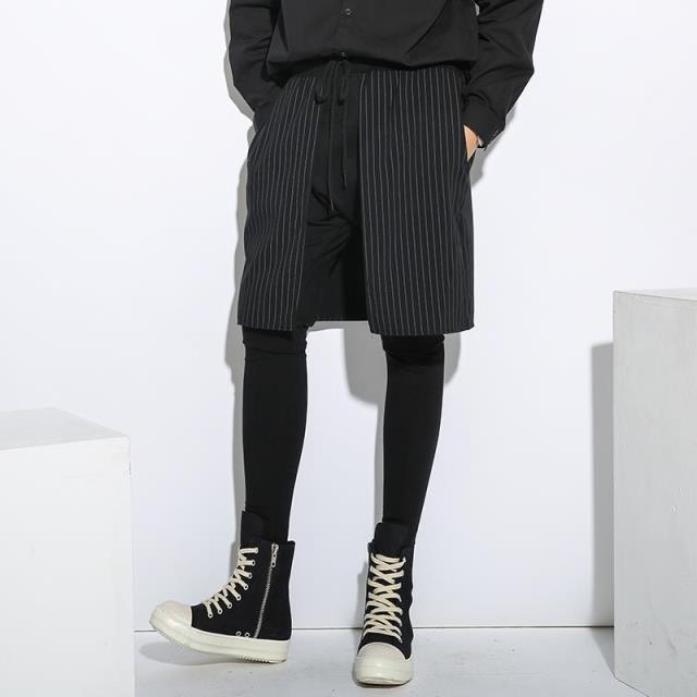 Punk Estilo de Tres Capas de Empalme de los Hombres Pantalones Casuales Hombres Rock Flacas Botas Pantalones Desfile de Moda Para Hombre Pantalones Pantalones de Chándal Basculador