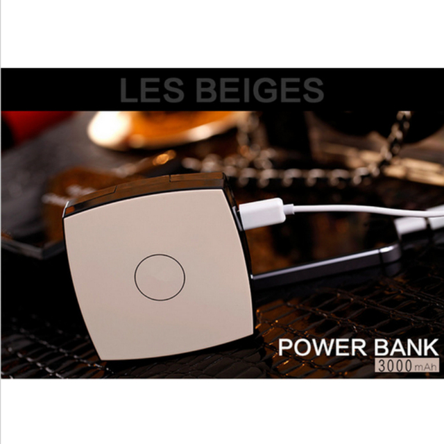new pattern Luxury Mirror Power Bank 3000mAh High Quality portable battery charger For iphone6 5 5s IOS Android phones