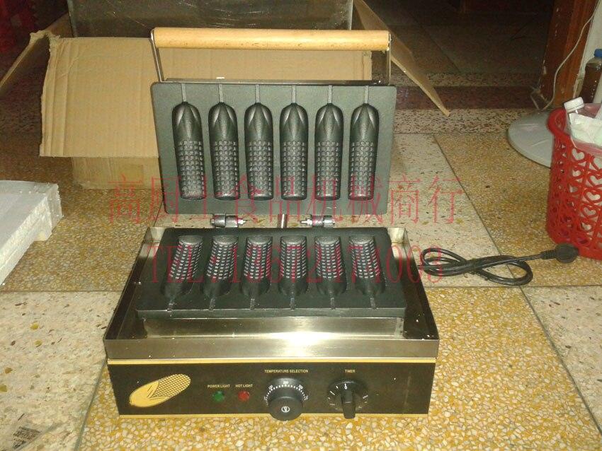 Free shipping 220v 110v Corn shape Lolly waffle machine hot dog stick