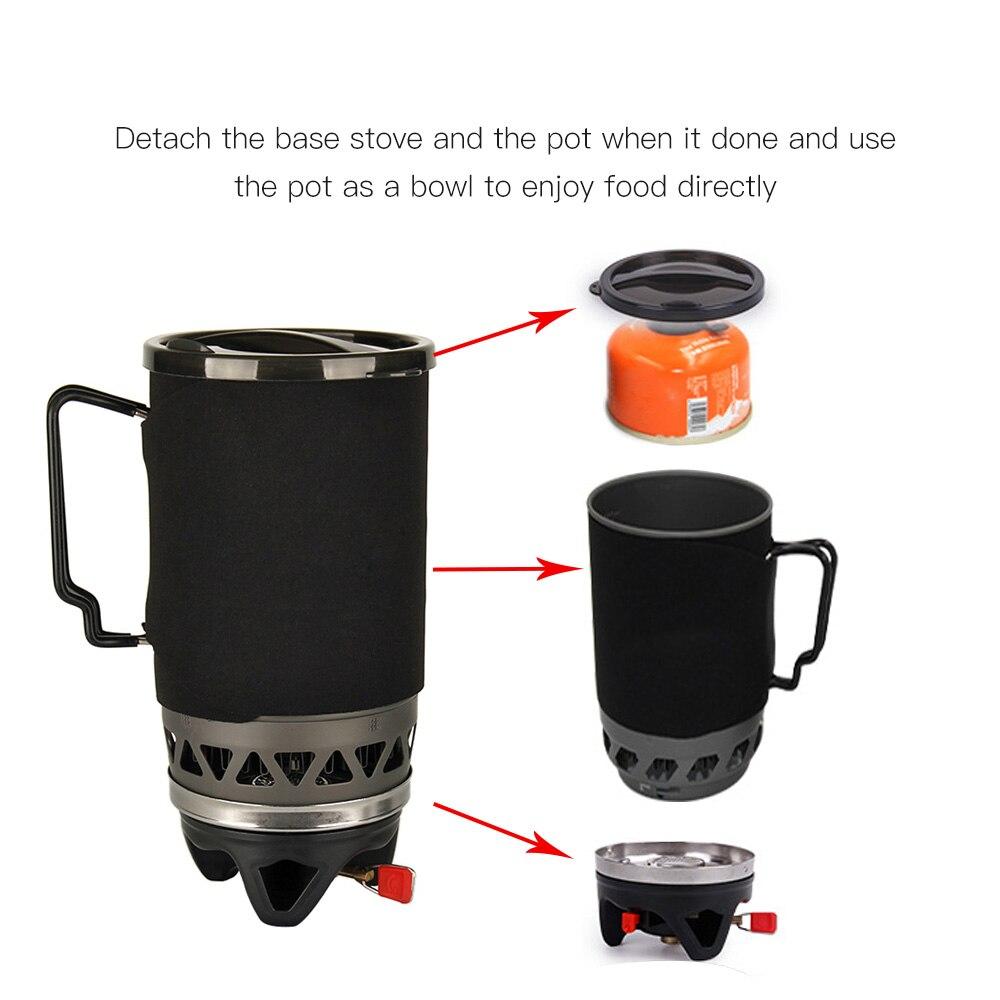 APG 3-en-1 Pot bol brûleur à gaz ustensiles de cuisine 1400ML Camping en plein air cuisinière pique-nique cuisson poche cuisinière à gaz Camping en plein air cuisinière à gaz