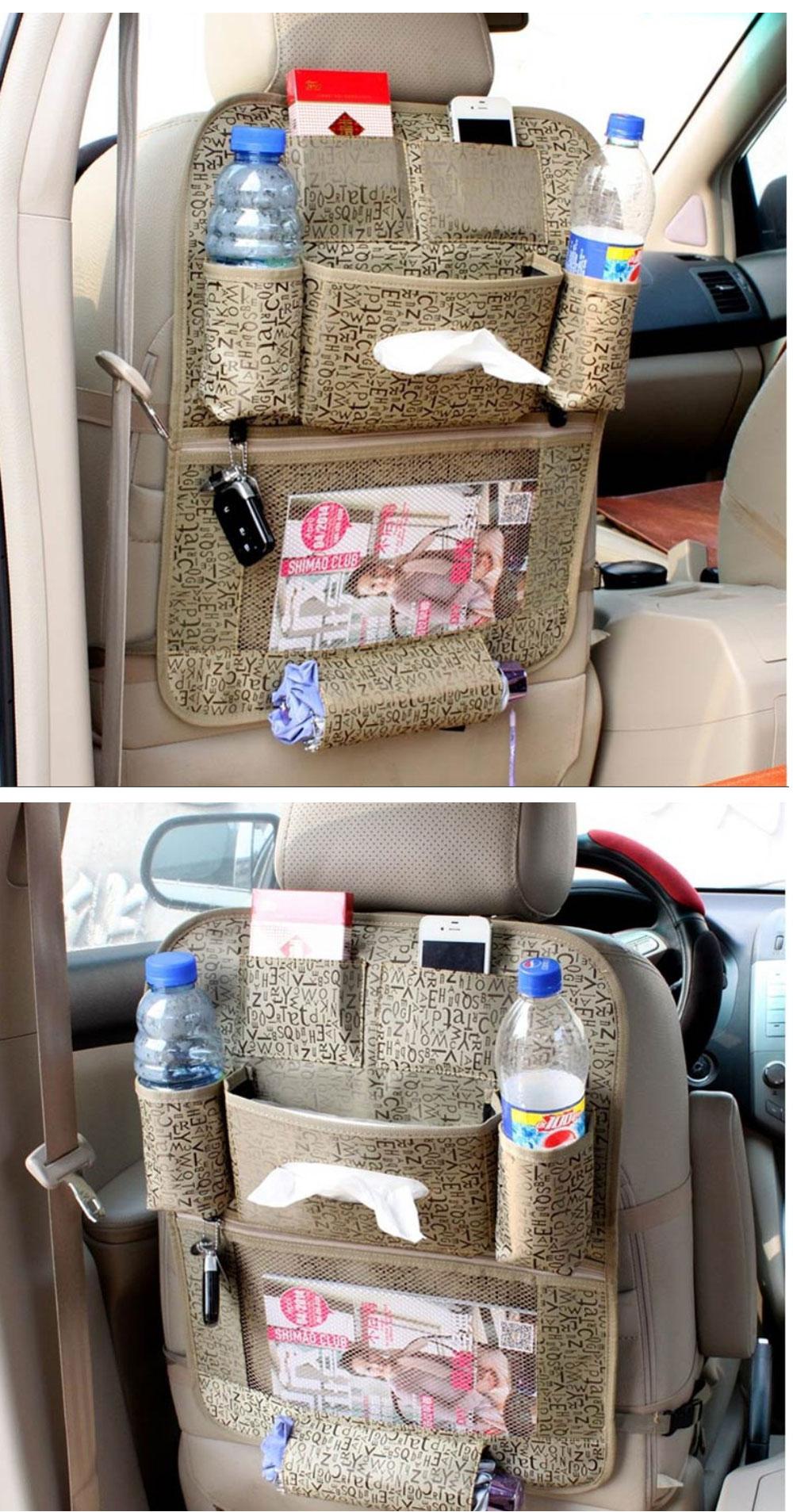 Car Organizer waterproof Car seat covers protector mat Car Storage Bags Seat Back Protector Case Cover Multi-Purpose 2