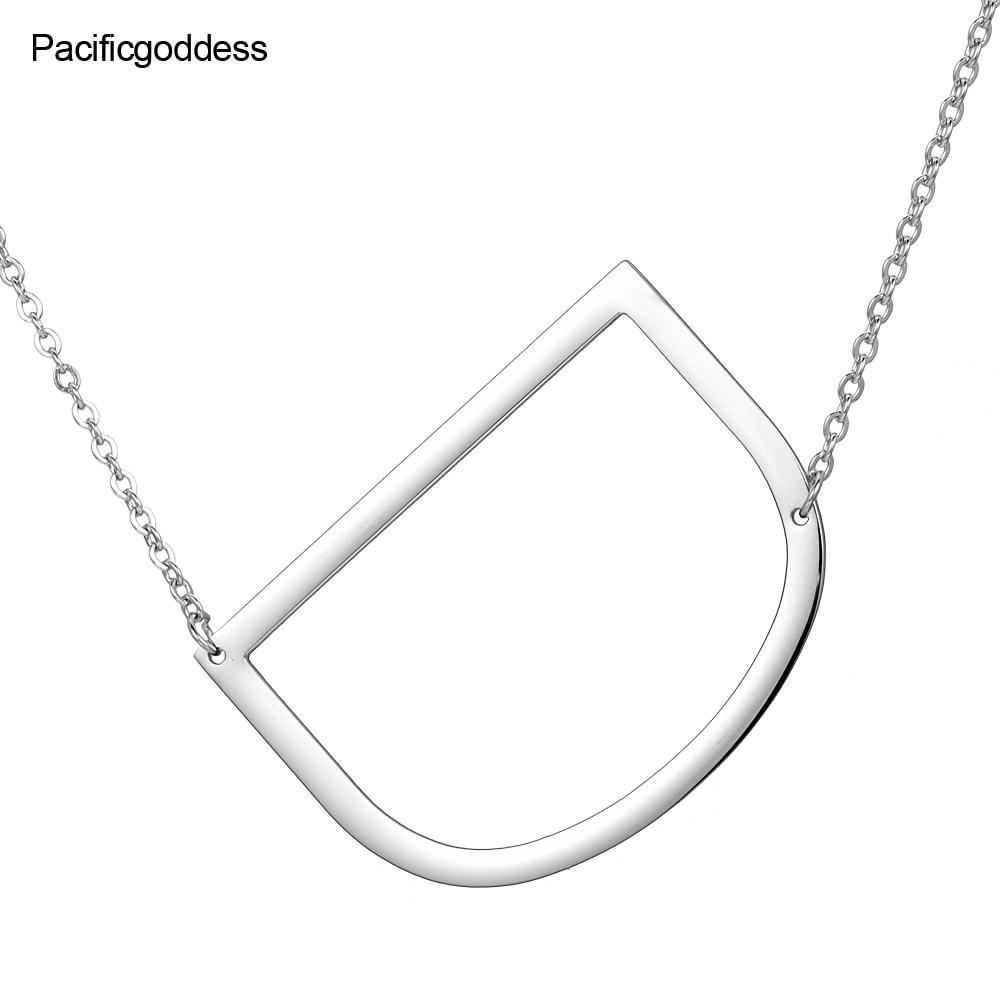 bogstaver halskæde sølv A til Z vedhæng i rustfrit stål choker - Mode smykker - Foto 5