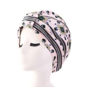 Image 4 - Muslim Women Silky Sleeping Turban Hat Cancer  Chemo Beanies Bonnet Cap Bandans Headwear Head Wrap Hair Accessories