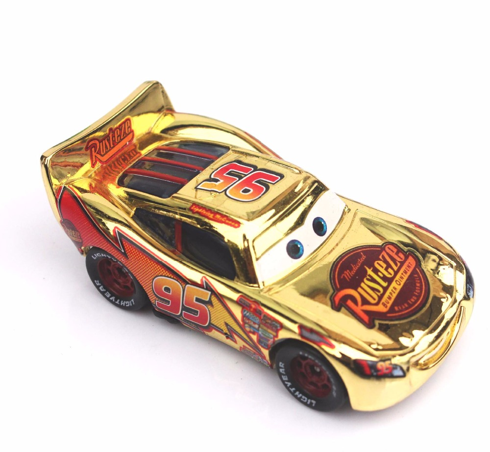 Cars silver racer poster 2 - 5 Styles New Pixar Cars 2 Gold Silver Lightning Mcqueen 1 55 Scale Diecast Metal