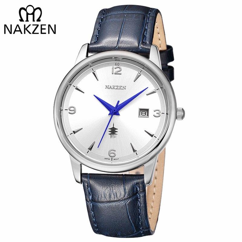 b5845ecd Купить NAKZEN классические наручные часы бренд роскошные кварцевые мужские  часы водонепроницаемые часы мужские повседневный спортивный крутой пода...  Цена ...