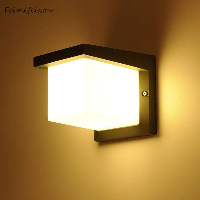 LYFS Outdoor wall lamp IP65 Waterproof Outdoor wall lighting balcony led wall lamp 10W Villa garden
