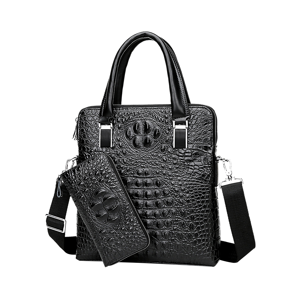 Large Capacity Should Bags For Men Genuine Leather Crocodile Men's Business Handbags Brand Design what business should i start