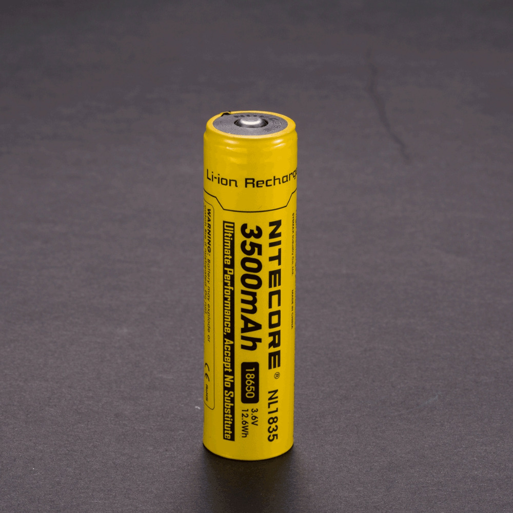 100% Original NITECORE NL1835 3.7V Li-ion Protected Battery Button Top for 18650 Type Flashlights 1pcs стоимость