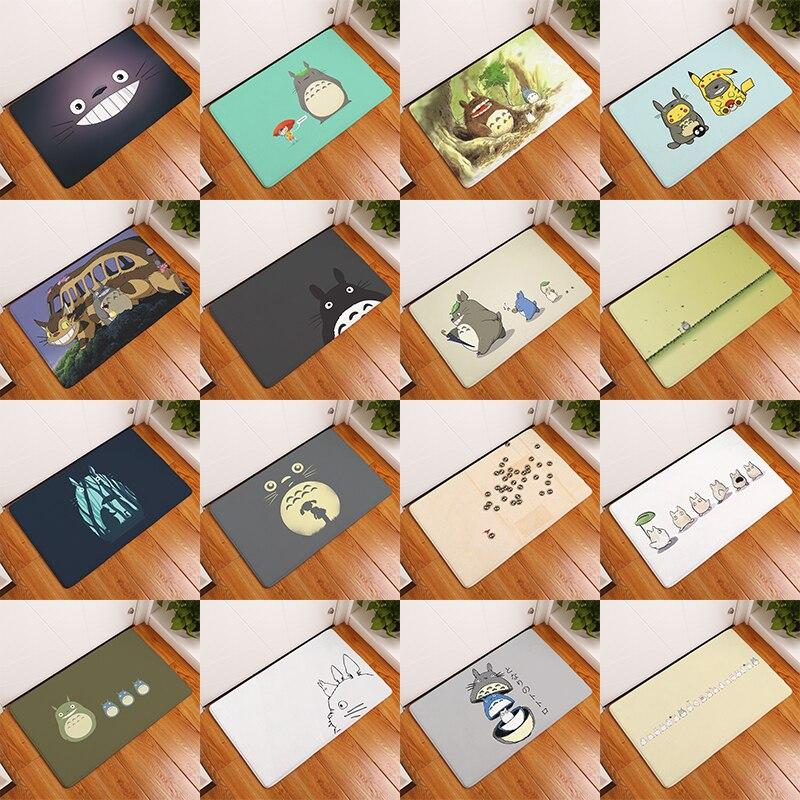 Flanel Anti Slip Matten Totoro Kat Leuk Dier Gedrukt Rechthoekige Mat 40*60Cm Entree Deurmatten Wasbaar Keuken floor Badkamer|Mat|   - AliExpress