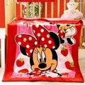 Promoção! Mickey Gatinho Coral fleece Confortável Crianças Bebê Saco de Dormir Cobertores Infantis Quilt Envoltório Bebê Panos, 140*100 cm