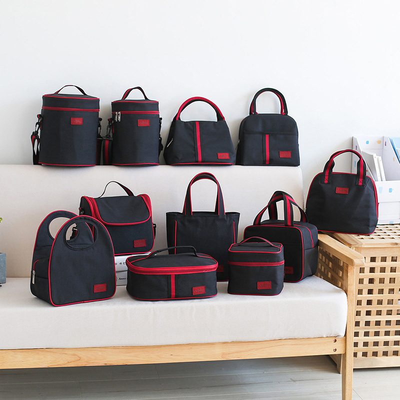Women Portable Lunch Bag Thermal Picnic Drink Fruit Food Fresh Organizer Travel Insulated Cooler Bento Tote Family Accessories