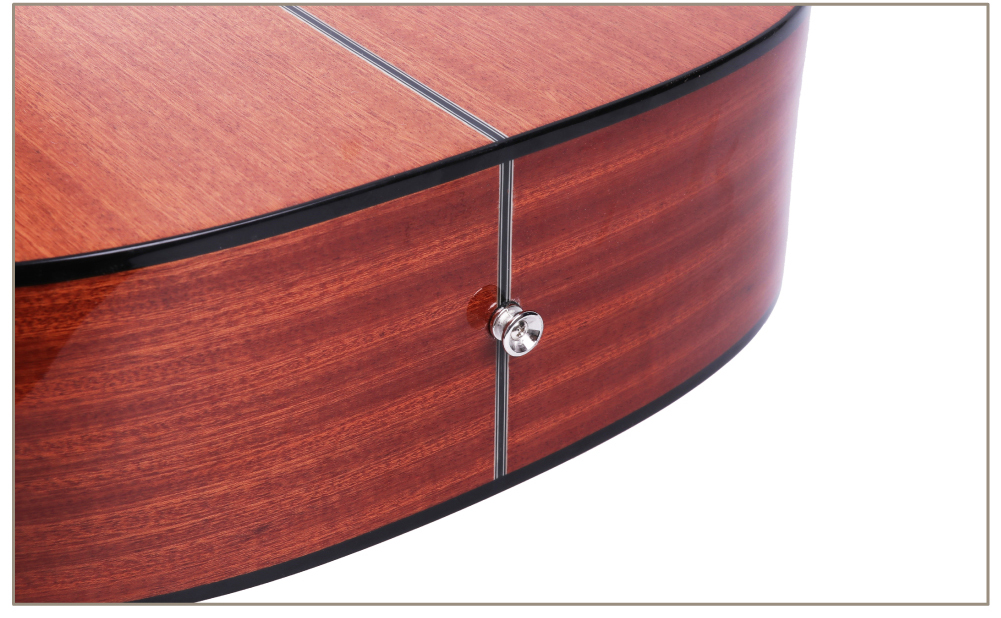 d-corpo guitarra 12 cordas folk pop cutaway high-gloss instalar captador
