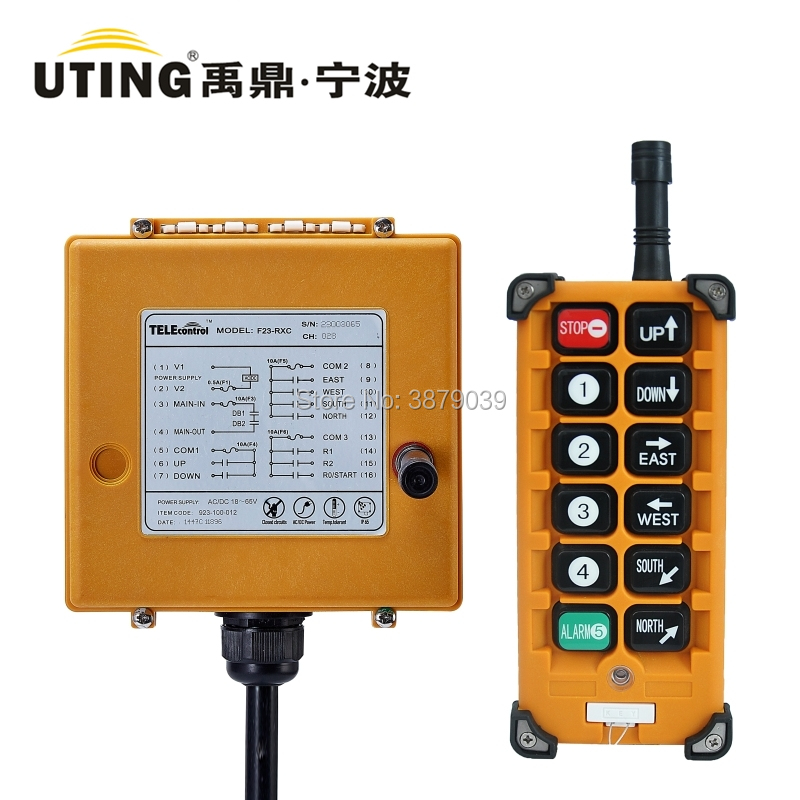 Nice UTING CE FCC Industrial Wireless Radio Single Speed F23-A++ Remote Control(1 Transmitter+1 Receiver) for Crane f21 e1 2 transmitter 1 receiver uting ce fcc industrial wireless radio single speed 6 buttons remote control for hoist crane