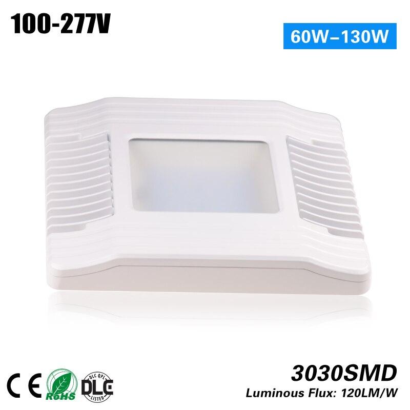 60 Вт 100 Вт 130 Вт Ultra Slim dimmable АЗС, навес огни с светодиоды cree meanwell led прожектор 5 лет гарантии