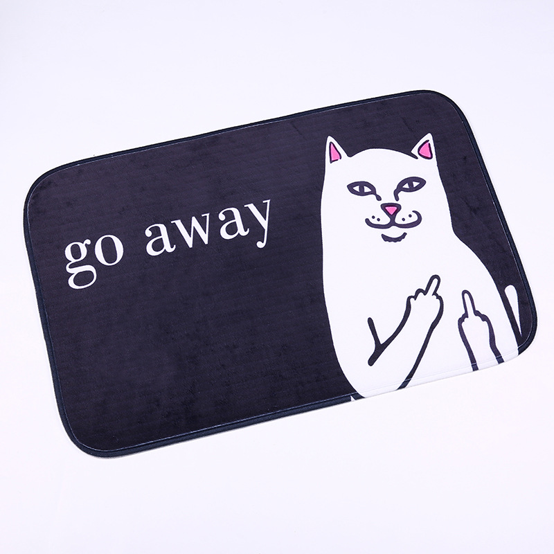 Doormat Floor-Mat Go-Away Non-Slip Animal Home-Decoration Cartoon Printing Cat Felpudo