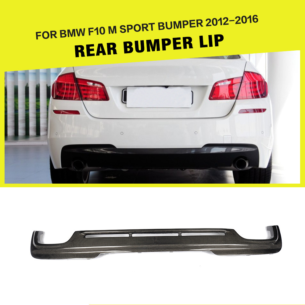 Car styling carbon fiber rear lip diffuser spoiler for bmw 525i 528i 5series f10 m