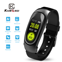Smart Watch Bluetooth Earphone Smart Band Heart Rate Pedometer Fitness Tracker Make Calls Phone Bracelet for