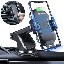 Tradexert Automatic Clamping Wireless Car Charger Mount 10w Holder Qi Fast Charge
