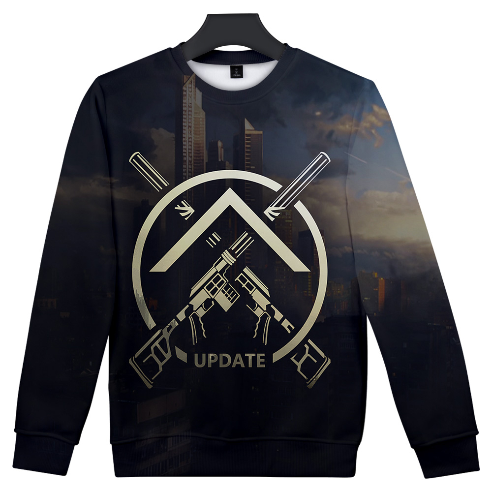 2019 3D Print Escape from Tarkov fashion Cosplay Long Sleeve Casual Sweatshirts New Style