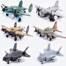 6 Estilos Q Ver Clássico aviões da Segunda Guerra Mundial Bombardeiro B-17G TU-2 HE-177 e Lutador jian 20 Assembléia Modelo Kits de Construção diy brinquedos