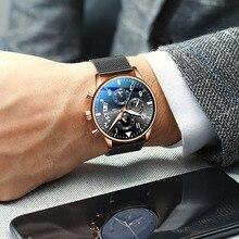 2019 топ модный бренд для мужчин наручные часы спортивные часы Человек Бизнес хронограф наручные часы для мужские часы Relogio Masculino