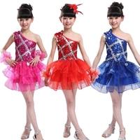 Children's Stage Costumes Jazz Dance Clothing Sequins Ballroom Dance Performances Hip Hop Dance wear costumes dress for Girls
