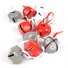 Christmas decoration for home 12 pcs red white grey bells Pendants DIY accessories gift merry XMAS