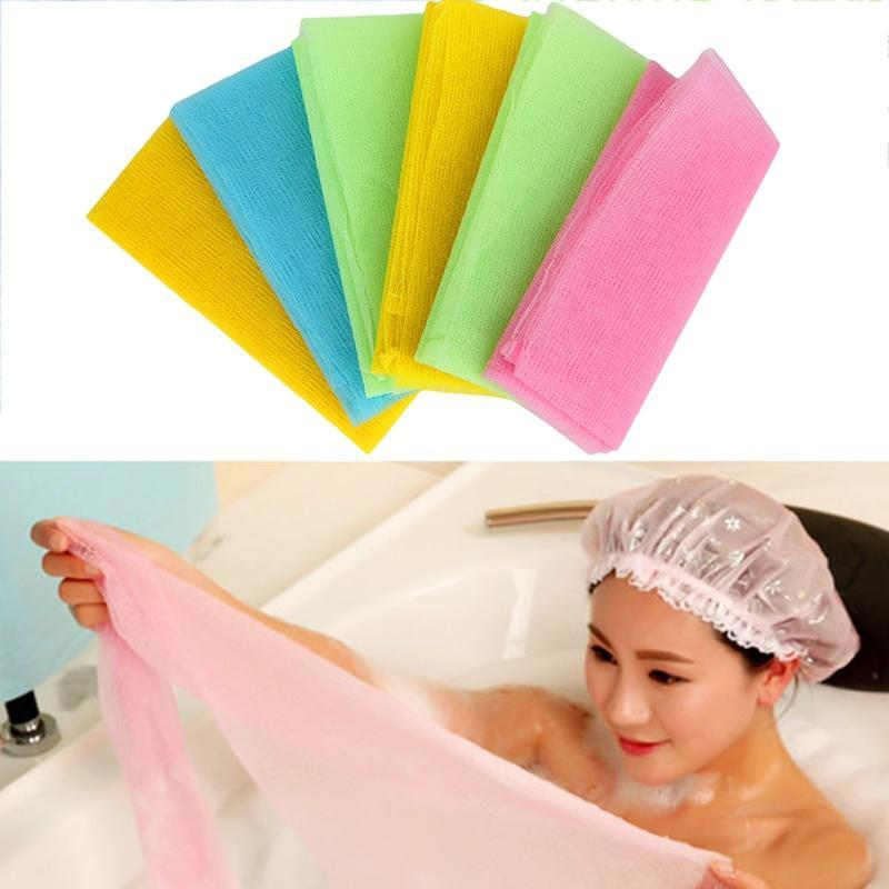 1PC Nylon Mesh Bath Shower Body Washing Clean Exfoliate Puff Scrubbing Towel Cloth Scrubber Soap Bubble For The Bath Like Loofah