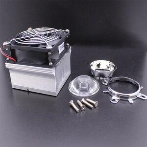 Image 3 - Disipador de calor de aluminio LED, ventilador de refrigeración de 100W + lente de 60 grados 90 grados 120degree44mm + Reflector Brack